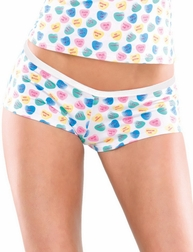 Plus Size Candy Heart Sweetheart Booty Short