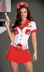 Nurse Anita Shot Costume