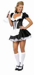 2 PC Sexy French Maid Costume