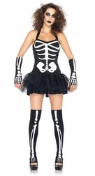 3 PC Sexy Skeleton Costume