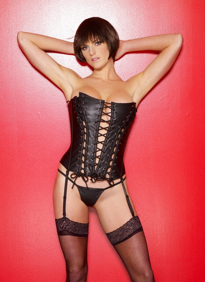 Leather Lingerie, Sexy Corset, Leather Corset, Corset Lingerie