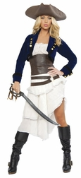 Deluxe 6pc Colonial Pirate Costume