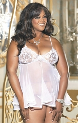 Plus Size Honeymoon In Paradise Lace Babydoll