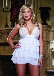 Plus Size Bridal Bliss Chiffon Babydoll