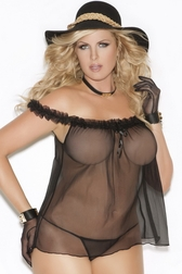 Plus Size Evita's Sexy Off The Shoulder Babydoll