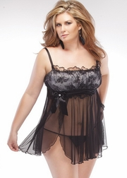 Plus Size Turn The Lights Down Low Babydoll