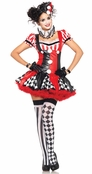 3 PC. Harlequin Clown Costume