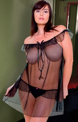 Plus Size Swiftly Sheer Babydoll