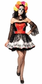 4 PC Sugar Skull Beauty Costume