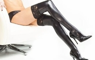 Touch Me Twice Wetlook Stockings