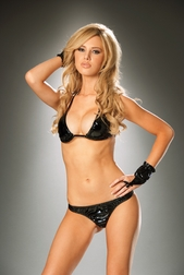 2 PC Vixen Vinyl Bra Set