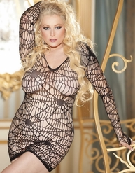 Plus Size Fishnets With Rhinestones