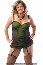 Plus Size Memories in Mesh Nightdress