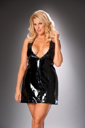 Plus Size Naughty Nailhead Halter Mini Dress
