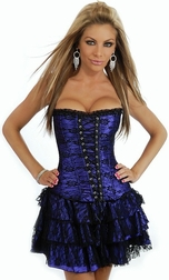 Plus Size Purple Lace Corset Dress