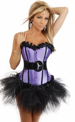 Plus Size Lavender Dreams Corset & Pettiskirt
