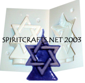 "STAR OF DAVID CANDLE MOLD (3.5"" HT, 4.5 oz)"