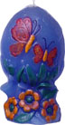 "DECORATED EGG CANDLE MOLD (6.5"" HT, 1 lb 8 oz)"
