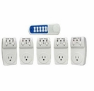 5 Wireless Controlled Electrical Switch Socket Outlets with 1 Remote