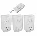 Indoor Wireless Remote Control with Transmitter, 3-Pack Outlets