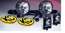 "Pair 6"" Round Long Range 50 Watt HID Light"