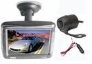 3.5'' Slim TFT LCD Window Suction Mount Monitor with Dual Mount Rearview Camera w/ Night Vision