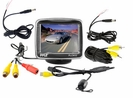3.5'' TFT LCD Monitor w/ Universal Mount Rear View and Backup Color CMD Distance Scale Line Camera