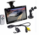 7'' Window Suction Mount TFT/LCD Video Monitor w/ Universal Mount Rearview Backup Color Camera w/ Distance Scale
