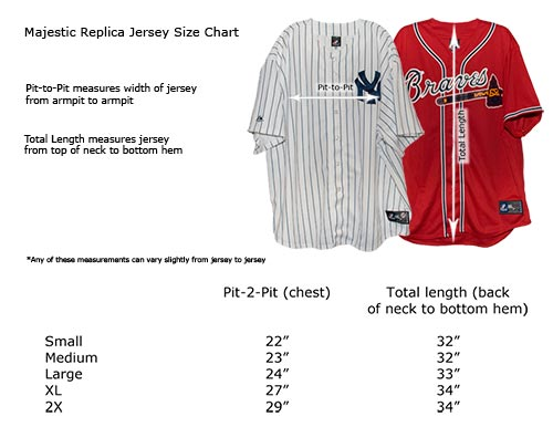 Majestic Jersey Size Chart Cool Base Authentic On Field