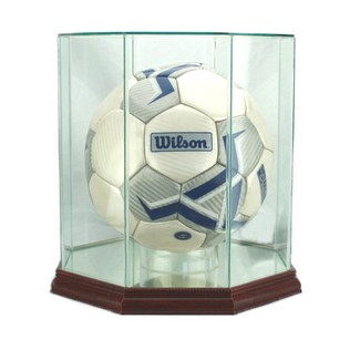 Soccer Ball Display Case Glass Octagon Trophycentral