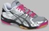 Asics Gel Rocket 6 Women's Squash / Volleyball Shoes, Silver / Black / Pink