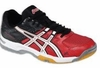 Asics Gel Rocket 6 Men's Squash / Volleyball Shoes, Black / Red / White