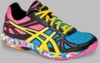 Asics Gel-Flashpoint Squash / Volleyball Women's Shoes, Black / Yellow / Pink