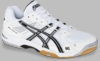 Asics Gel Rocket 6 Men's Squash / Volleyball Shoes, White / Silver / Black