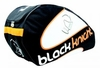 Black Knight Triple Gear Racquet Bag, Black / Orange/ White