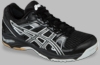 Asics Gel-1140V Squash / Volleyball Unisex Shoes, Black / Silver