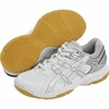 Asics JR Rocket GS Junior Court Shoes, White/Silver