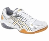 Asics Gel Domain 2 Squash / Volleyball Lady's Shoes, White / Silver
