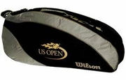 Wilson US Open Triple Thermal Racquet Bag, Black/Gold