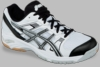 Asics Gel-1140V Squash / Volleyball Unisex Shoes, White/Black/Silver