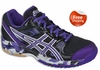 Asics Gel-1140V Squash / Volleyball Women's Shoes, Black / Grape / Silver
