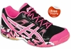Asics Gel-1140V Squash / Volleyball Women's Shoes, Black / Neon Pink