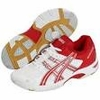 Asics Gel Rocket 5 Women's Court Shoes, White / Red