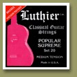 Luthier Set 20 Popular Supreme Classical Guitar Strings Medium Tension