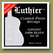 Luthier Set 35 Concert Dark Silver Classical Guitar Strings Medium/Hard Tension