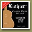 Luthier Set 40 Concert Gold Classical Guitar Strings Medium/Hard Tension