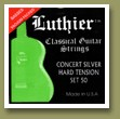 Luthier Set 50 Concert Supreme Classical Guitar Strings Hard Tension
