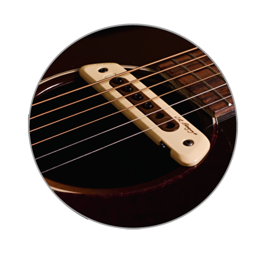 L.R. Baggs M80 Magnetic Pickup with Full Range 3D Body Sensitivity with FREE D'Addario 3 Pack!