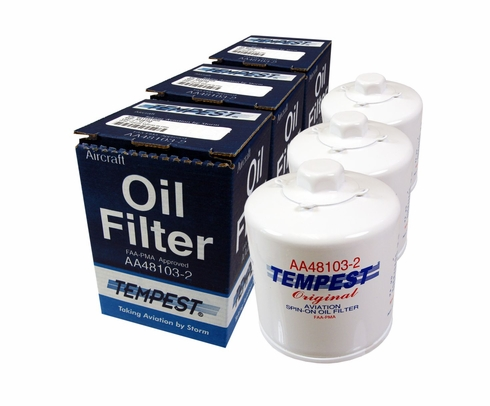 Tempest AA48103-2 Airplane Oil Filters - 6-Pack
