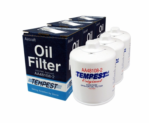 Tempest AA48108-2 Airplane Oil Filters - 6 Pack